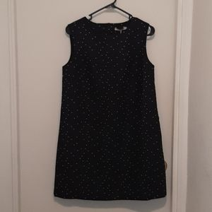 Lucy Paris FRNCH Dotted Navy & White Dress NWT